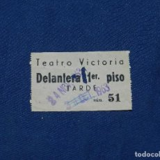 Cine: (ALB2) ENTRADA DE CINE - TEATRO VICTORIA , DELANTERA 1 PISO 1963. Lote 110370411