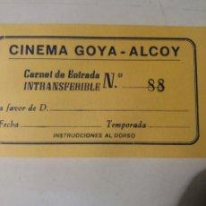 Cine: CINE GOYA,ALCOY ALICANTE .. Lote 111532996