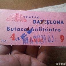 Cine: ENTRADA CINE TEATRO BARCELONA AÑOS 50. Lote 113149967