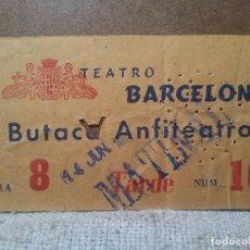 Cine: ENTRADA CINE TEATRO BARCELONA AÑOS 50. Lote 113194275