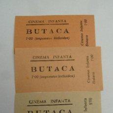 Cine: 3 ENTRADAS DE CINE ORIGINALES CINEMA INFANTA. Lote 113236523