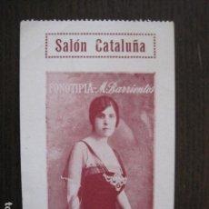 Cine: SALON CATALUÑA - ENTRADA DE CINE - PRINCIPIO DE SIGLO- VER FOTOS - (V-13.540). Lote 113287647