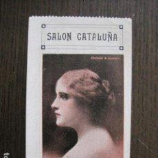 Cine: SALON CATALUÑA - ENTRADA DE CINE - PRINCIPIO DE SIGLO- VER FOTOS - (V-13.541). Lote 113287871