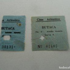 Cine: 2 ENTRADAS ORIGINALES ANTIGUAS CINE ATLANTICO DE BARCELONA. Lote 114203983