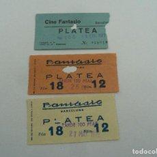 Cine: 3 ENTRADAS ORIGINALES ANTIGUAS CINE FANTASIO DE BARCELONA . Lote 114204811