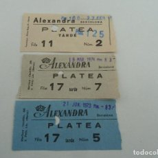 Cine: 3 ENTRADAS ORIGINALES ANTIGUAS CINE ALEXANDRA DE BARCELONA . Lote 114206163
