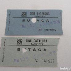 Cine: 2 ENTRADAS ORIGINALES ANTIGUAS CINE CATALUÑA DE BARCELONA . Lote 114206215