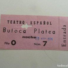 Cine: INTERESANTE ENTRADA ANTIGUA ORIGINAL DEL TEATRO ESPAÑOL DE BARCELONA. Lote 114243703