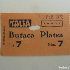 Cine: INTERESANTE ENTRADA ANTIGUA ORIGINAL DEL TEATRO TALIA DE BARCELONA. Lote 114243759