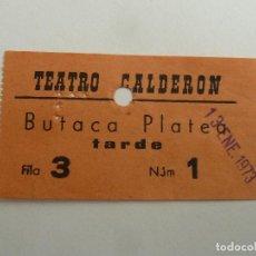 Cine: INTERESANTE ENTRADA ANTIGUA ORIGINAL DEL TEATRO CALDERON DE BARCELONA. Lote 114243807