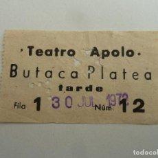 Cine: INTERESANTE ENTRADA ANTIGUA ORIGINAL DEL TEATRO APOLO DE BARCELONA. Lote 114243823
