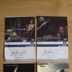 Cine: LOTE 4 ENTRADAS CINE TERROR - ALIEN - ALIEN VS PREDATOR - VER FOTOS ADICIONALES. Lote 114400447