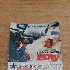 Cinéma: ENTRADA CINE KINEPOLIS - BUSCANDO A EVA - ED TV. Lote 116437695