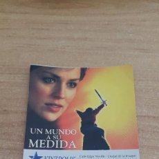 Cinéma: ENTRADA CINE KINEPOLIS - NOVIA A LA FUGA - UN MUNDO A SU MEDIDA. Lote 116439247