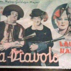 Cine: TARJETA DE CINE FRA DIAVOLO AÑO 1935. Lote 117810547