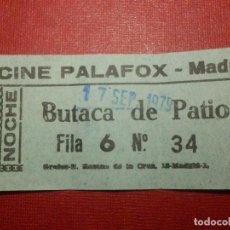 Cine: ENTRADA - CINE PALAFOX - MADRID - NOCHE - AÑO 1979 -. Lote 118181007