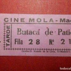 Cine: ENTRADA - CINE MOLA - MADRID - TARDE - AÑOS 60´S 70´S. Lote 118181603