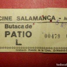 Cine: ENTRADA - CINE SALAMANCA - MADRID - AÑOS 60´S 70´S. Lote 118182579