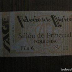 Cine: ENTRADA CINE -PALACIO DE LA MUSICA -MADRID - AÑOS 1930 -VER FOTOS-(V-14.224). Lote 118200179