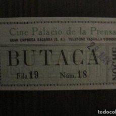 Cine: ENTRADA CINE -PALACIO DE LA PRENSA-MADRID- VARIOS REVERSOS PELICULA- AÑOS 1930 -VER FOTOS-(V-14.227). Lote 118200447