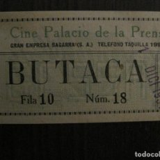 Cine: ENTRADA CINE -PALACIO DE LA PRENSA-MADRID- VARIOS REVERSOS PELICULA- AÑOS 1930 -VER FOTOS-(V-14.228). Lote 118200487