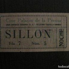 Cine: ENTRADA CINE -PALACIO DE LA PRENSA-MADRID- VARIOS REVERSOS PELICULA- AÑOS 1930 -VER FOTOS-(V-14.231). Lote 118200659