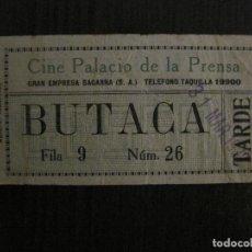 Cine: ENTRADA CINE -PALACIO DE LA PRENSA-MADRID- VARIOS REVERSOS PELICULA- AÑOS 1930 -VER FOTOS-(V-14.232). Lote 118200699