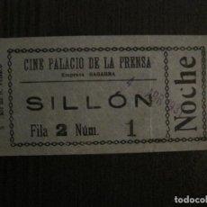 Cine: ENTRADA CINE -PALACIO DE LA PRENSA-MADRID- VARIOS REVERSOS PELICULA- AÑOS 1930 -VER FOTOS-(V-14.233). Lote 118200771
