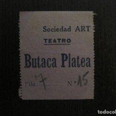 Cine: ENTRADA CINE - SOCIEDAD ART - CADAQUES - AÑOS 1930 -VER FOTOS-(V-14.240). Lote 118201187