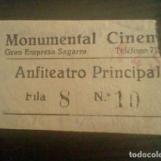 Cine: ENTRADA CINE MONUMENTAL CINEMA LA MALQUERIDA 14 SEPTIEMBRE 1941. Lote 118590279