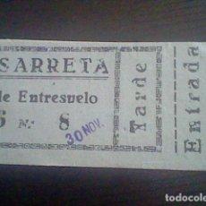 Cine: ENTRADA TICKET CINE LUSARRETA JUGANDO LA MISMA CARTA 30 NOV 1941. Lote 118591027