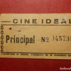 Cine: ENTRADA - CINE - IDEAL - MADRID - AÑOS 60´S 70´S. Lote 118597735