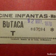 Cine: ENTRADA - CINE - INFANTAS - MADRID - AÑO 1970. Lote 118597771