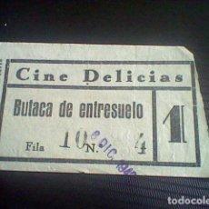 Cine: ENTRADA CINE DELICIAS VIVE COMO QUIERAS 8 DIC 1942 . Lote 118738207