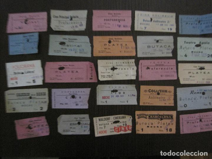 LOTE 25 ENTRADAS CINE BARCELONA - AÑOS 60 -70 -VER FOTOS-(18227) (Cine - Entradas)