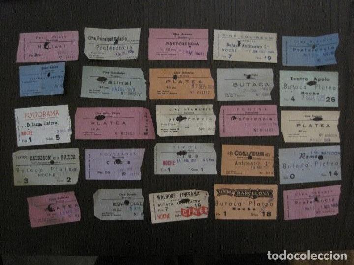 Cine: LOTE 25 ENTRADAS CINE BARCELONA - AÑOS 60 -70 -VER FOTOS-(18227) - Foto 2 - 121807311
