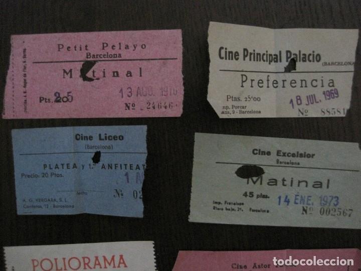 Cine: LOTE 25 ENTRADAS CINE BARCELONA - AÑOS 60 -70 -VER FOTOS-(18227) - Foto 3 - 121807311