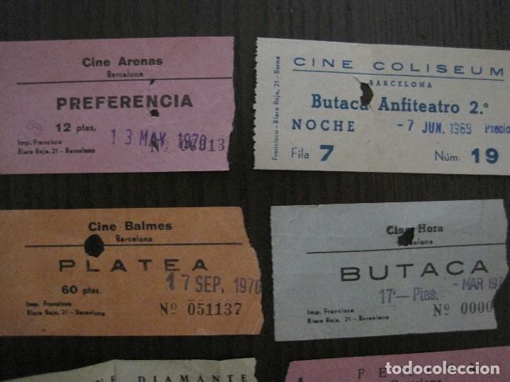 Cine: LOTE 25 ENTRADAS CINE BARCELONA - AÑOS 60 -70 -VER FOTOS-(18227) - Foto 4 - 121807311