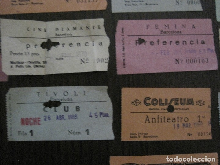 Cine: LOTE 25 ENTRADAS CINE BARCELONA - AÑOS 60 -70 -VER FOTOS-(18227) - Foto 7 - 121807311