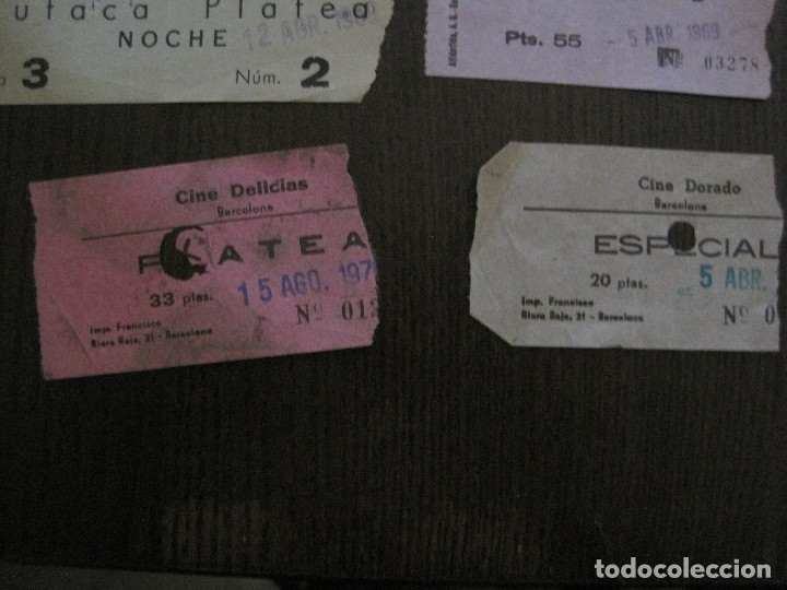 Cine: LOTE 25 ENTRADAS CINE BARCELONA - AÑOS 60 -70 -VER FOTOS-(18227) - Foto 9 - 121807311