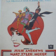 Cine: PROGRAMA DE CINE. MILLIE. UNA CHICA MODERNA. JULIE ANDREWS.. Lote 122768443