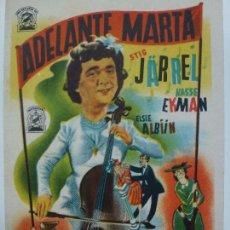 Cinema: PROGRAMA DE CINE. ADELANTE MARTA. . Lote 122794039
