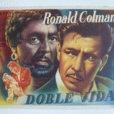 Cine: PROGRAMA DE CINE. DOBLE VIDA. RONALD COLMAN.. Lote 122795767
