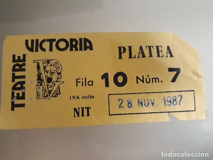 TEATRE VICTORIA ENTRADA 1987 (Cine - Entradas)