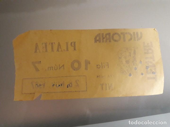 Cine: Teatre victoria entrada 1987 - Foto 2 - 126205391