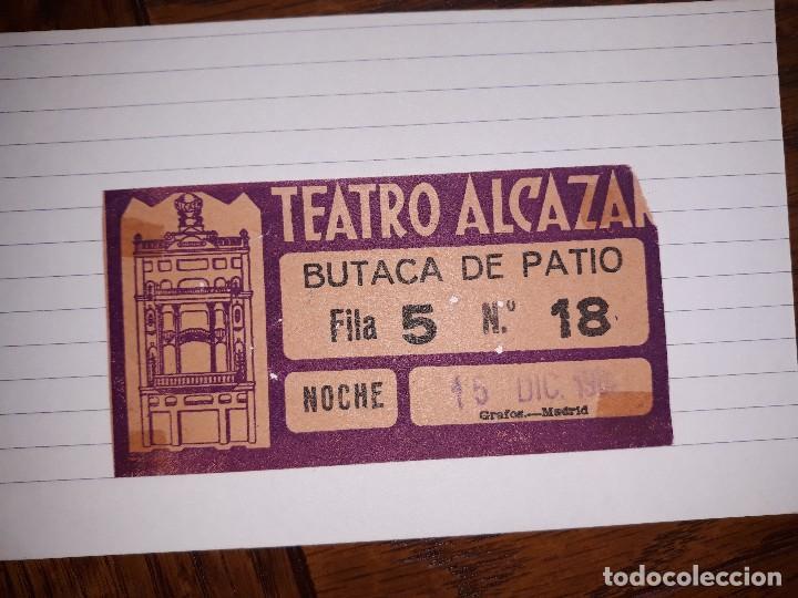 TEATRO ALCAZAR ENTRADA (Cine - Entradas)