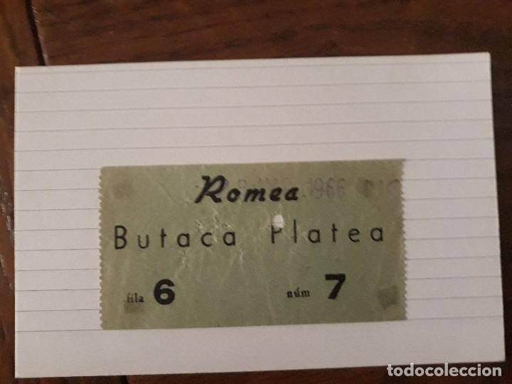 ROMEA ENTRADA 1966 (Cine - Entradas)