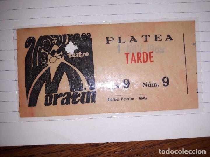 MORATIN BARCELONA ENTRADA (Cine - Entradas)