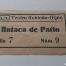 Cine: GIJON. TEATRO ROBLEDO. ENTRADA.. Lote 126529894