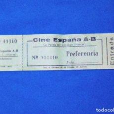 Cine: VENDO TALONARIO DE ENTRADAS CINE ESPAÑA A-B (LA PALMA DEL CONDADO - HUELVA).. Lote 131862694